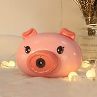 熊山谷 折耳小猪泡泡机 配三节电池+两包泡泡精华+背带