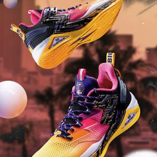 361° 男士篮球鞋 572021115 曜石黑/奇幻紫 40