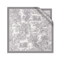 Dior 迪奧 Dioriviera系列女士桑蠶絲斜紋茹伊印花方巾91JOU090I601_C818 灰色
