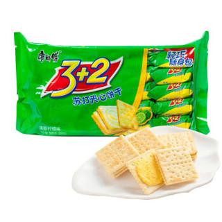 康师傅 3+2 苏打夹心饼干 清新柠檬味