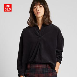 UNIQLO 优衣库 420563 灯芯绒半开领上衣女