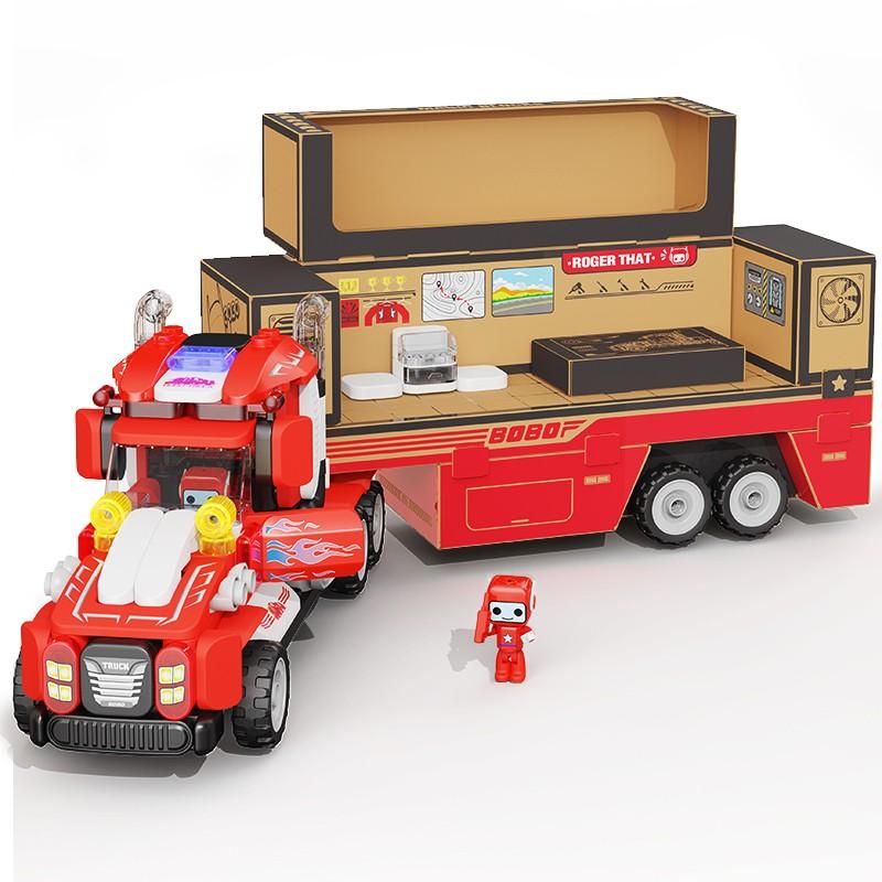 布鲁可 交通工具系列 布布百变超级重型卡车