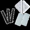 依来洁(yilaijie) 双面擦窗器原装替换配件 玻璃刮条胶条百洁布清洁棉配件包 固定扣1对