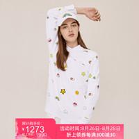 LACOSTE X FriendsWithYou联名系列男女同款潮流卫衣|SH0421N1 001/白色 S