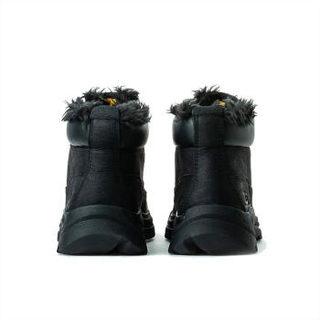 CAT 卡特彼勒 男士纯色系带圆头简约短靴P723539I3ADC09 黑色42