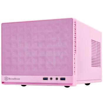 银欣(SilverStone) SG13B珍宝13 ITX机箱 长显卡/ATX电源/120m水冷 粉红色 SG13P