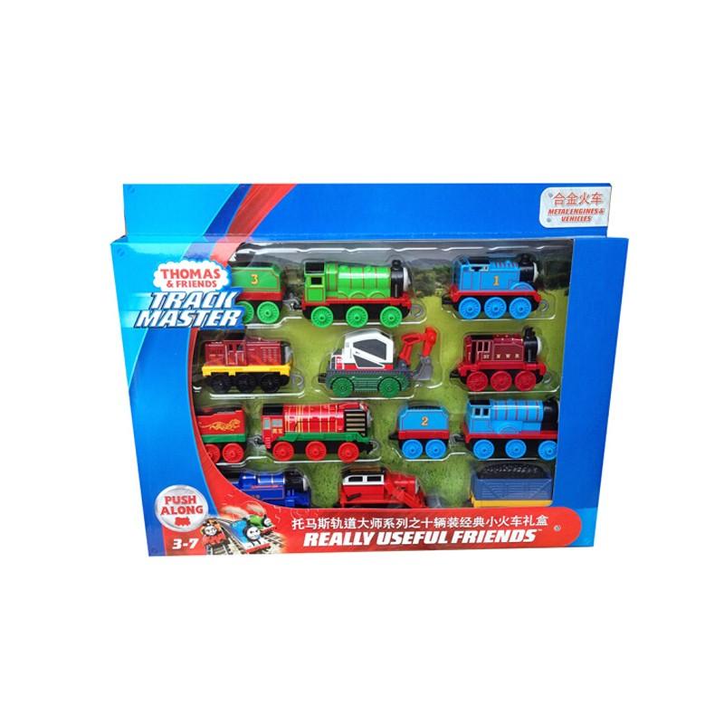 Thomas & Friends 托马斯和朋友 轨道系列 GHW14 玩具儿童车模型玩具 十辆装经典小火车礼盒