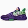 ANTA 安踏 轻狂系列 男士篮球鞋 112021615-6 朝代紫/醒目绿 39
