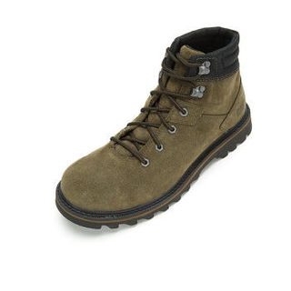 CAT 卡特彼勒 男士圆头系带休闲户外靴P722786I3BDC19 卡其绿42
