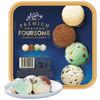 玛琪摩尔新西兰进口冰淇淋网红雪糕冷饮冰激凌生鲜大桶装 家庭四合一(巧克力+古蒂糖+香草+奶油曲奇)