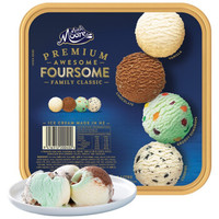 PLUS会员:MUCHMOORE 玛琪摩尔 进口冰淇淋 家庭四合一巧克力+古蒂糖+香草+奶油曲奇  2L