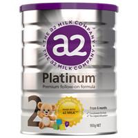 a2 艾尔 白金系列 婴幼儿配方奶粉 2段 900g*3罐(6-12个月)