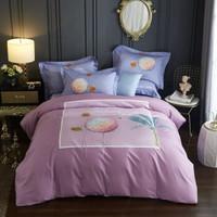 辰枫家纺 全棉活性印花四件套双人床品纯棉套件床上用品 贝拉安娜 适合1.5-1.8米床