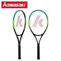 川崎专业网球拍初学者大学生碳铝网拍单人训练带线男女儿童打通用