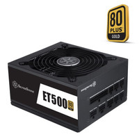 SILVERSTONE 银欣 额定500W ET500-MG ATX电源(80Plus金牌全模组)