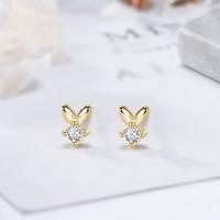 alivinee 阿莉维妮 ALWN-0093 s925银小兔子耳钉(配银耳塞)