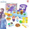 迪士尼 女孩玩具橡皮泥彩泥冰雪奇缘手工diy制作6色面食汉堡套装儿童生日礼物 DS-2634