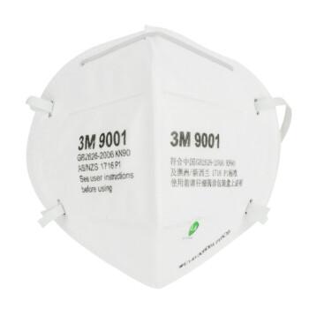 3M 90系列 9001 KN90折叠耳戴式口罩 白色 50只/袋