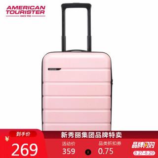 AMERICAN TOURISTER 美旅 拉杆箱 时尚轻便旅行箱静音耐磨万向轮TSA密码箱行李箱 21英寸登机箱 TE6樱花粉