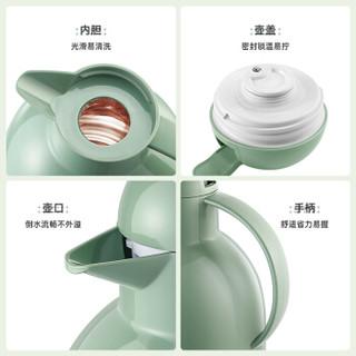 物生物(RELEA)智能保温壶家用热水瓶玻璃内胆暖水壶办公室热水壶大容量保温杯数显开水瓶2.2L莹彩迷森绿