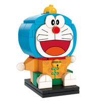 启蒙(ENLIGHTEN)积木玩具兼容乐高动漫卡通机器猫叮当猫男女孩拼装积木模型哆啦A梦系列唐装 A0112