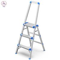 中创ZCAL 梯子家用人字梯铝合金折叠室内便携扶手梯3步高0.66米(LHS-03)