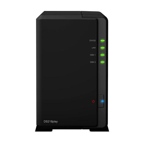 Synology群晖nasDS218play家庭网络存储服务器NAS私有云升级版现货包邮