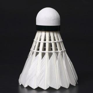 正品12只装羽毛球鹅毛稳定耐打王室内室外训练比赛用球打不易烂