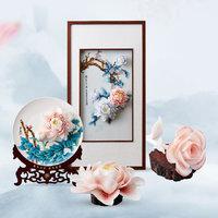 不东 不凋谢的手工陶瓷 玫瑰花 16*6cm