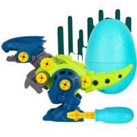 ZHIHUIYU 智慧鱼 PZ801 拼装恐龙 迅猛龙 蓝色蛋壳