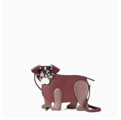 kate spade 凯特丝蓓  floral pup dog 斜挎包
