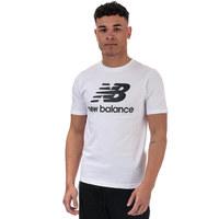 银联返现购:New Balance Essentials Stacked Logo 男士T恤