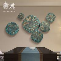 泰域東南亞風格裝飾背景墻掛飾泰式掛件壁飾客廳墻壁組合創意墻飾