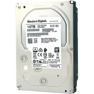 西部数据(Western Digital)Ultrastar 10TB HC330 SATA6Gb/s 7200转256M 企业级硬盘(WUS721010ALE6L4)