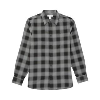 Calvin Klein 卡尔文·克莱 40517qy010 男士棉质格子翻领长袖衬衫