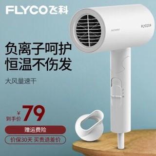 飞科(FLYCO)电吹风机家用大功率1800W吹风筒可折叠负离子护发FH6276 标配