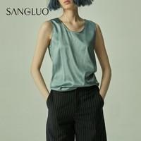 SANGLUO 桑罗 SSXB-2052002 女士真丝无袖上衣