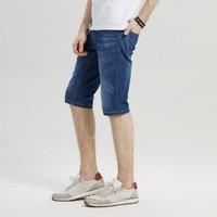 Hieiika 海一家 BKMND2E901A 男士休闲牛仔短裤