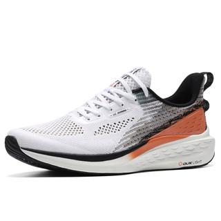 361° Q弹科技系列 男士轻便透气跑步鞋 572022241 361度白/海螺红 42
