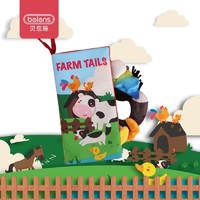 beiens 贝恩施 儿童撕不烂布书玩具 农场动物