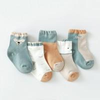 CHANSSON 馨颂 儿童宝宝纯棉袜子*5双装