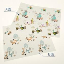 misslele 米乐鱼 婴儿爬行垫双面可折叠XPE 150X180CM *2件