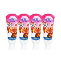 狮王面包超人儿童牙膏草莓味 40g四支装