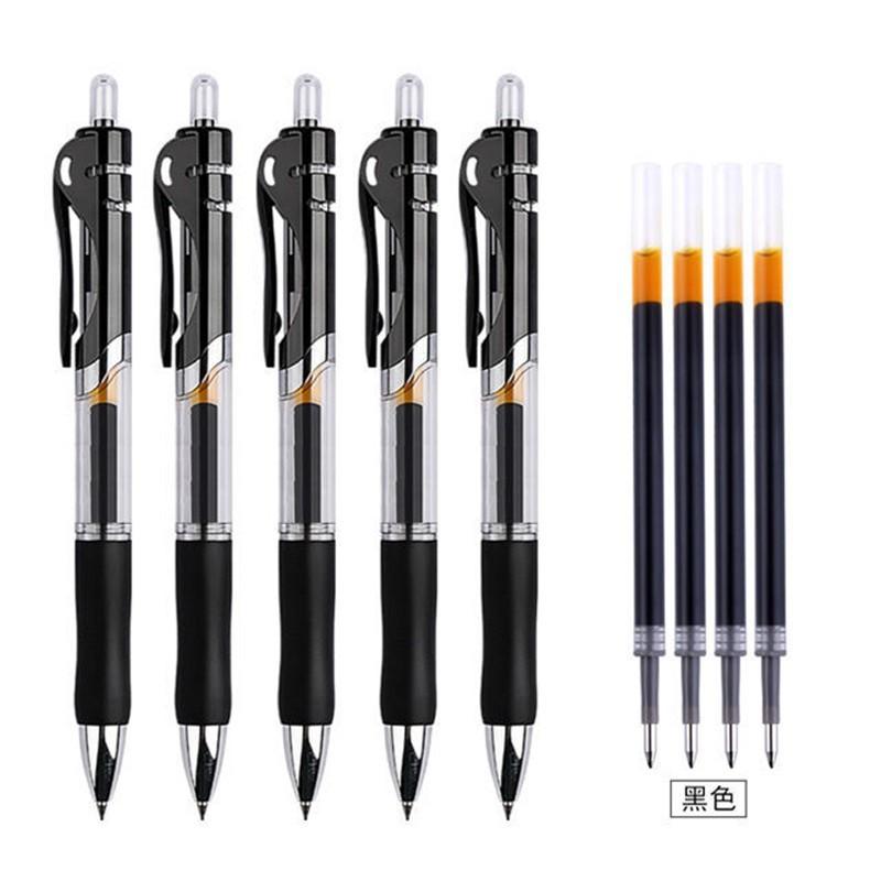 KOWELL 按动式中性笔 0.5mm 黑色 9支 送20支笔芯