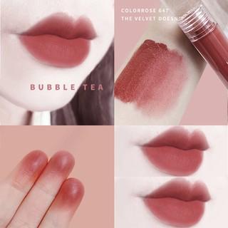 colorrose/唇釉女学生款平价口红小众品牌丝绒雾面哑光奶茶色镜面
