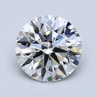 Blue Nile 1.34克拉圆形切割钻石