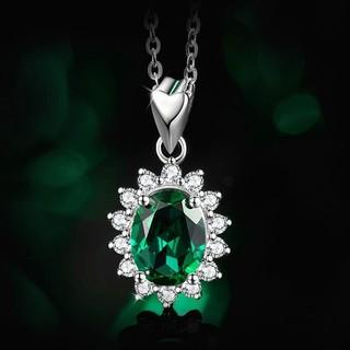 Miss Ace MAC00001 925银 绿宝石项链