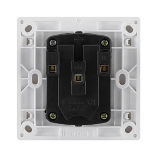 飞雕 开关插座面板套装 五孔插座 86型10A墙壁电源插座 A3嘉润白 五孔插【首件拍一发二,每个ID限购一次】