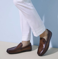 SENDA 森达 1DW11AM9 男士一脚蹬皮鞋