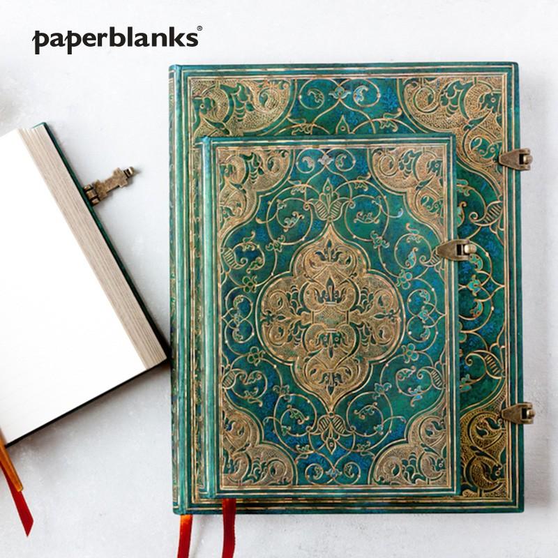 paperblanks 绿松石编年史系列 古典森林绿色系 精装复古笔记本
